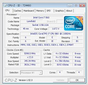 MSI's P55-GD80 Used To Overclock 2 8GHz Core i7 To 5 39GHz