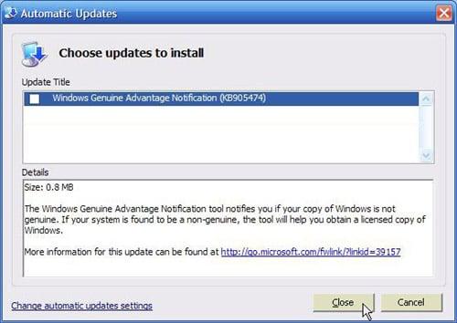 Windows genuine advantage microsoft wga installed updates windows update not starting in safe mode