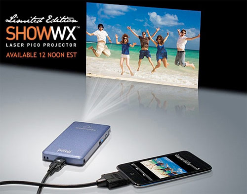 Microvisions laser-based SHOW WX pico projector shines at