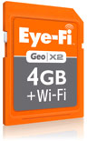Eye-Fi Adds Faster Uploads, Endless Memory With Geo X2 Wi-Fi 4GB SDHC Card