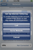 AT&T Tethering Option Spotted In iPhone OS 4.0 Beta 4 Software