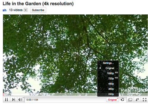 YouTube Starts Supporting 4K x 2K Resolution Content   HotHardware