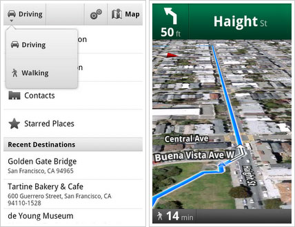 Google Gives Android Walking Directions | HotHardware