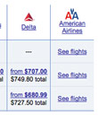 Expedia Hides American Fares After Orbitz Pullout