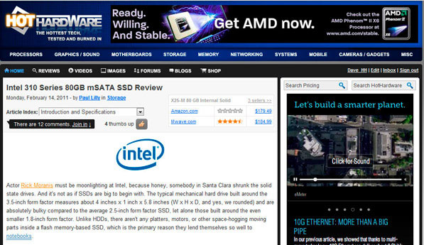 AMD's ad campaign here at HotHardware, pointing to http://www.amd.com/stable