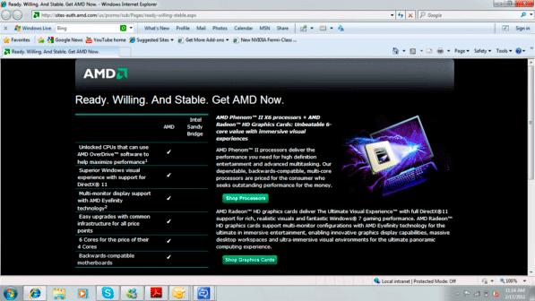 AMD's Upcoming Landing Page