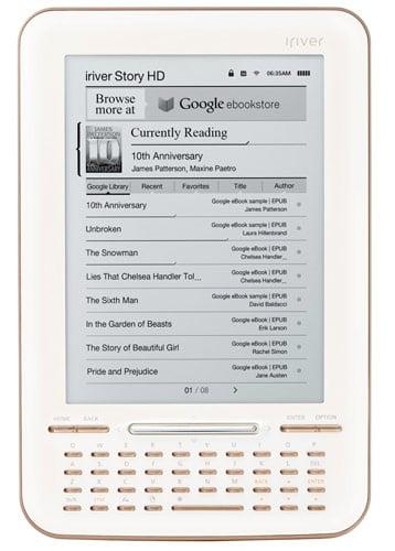 iriver story hd becomes first google books integrated e reader rh hothardware com Iriver Drivers Old Iriver