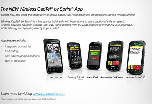 Wireless Captel By Sprint To Help Hard Of Hearing Users