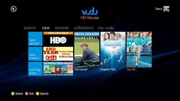 VUDU Rentals Come To Microsoft's Xbox 360 Console | HotHardware