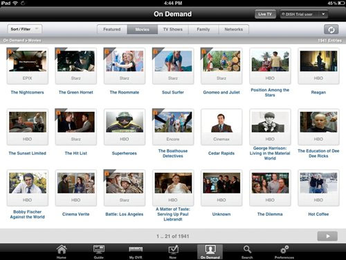 DISH Network Now Streaming Thousands Of Movies To iPad | HotHardware