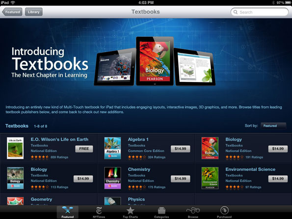 350,000 Apple iBooks Fly Off Virtual Shelves in First Three Days