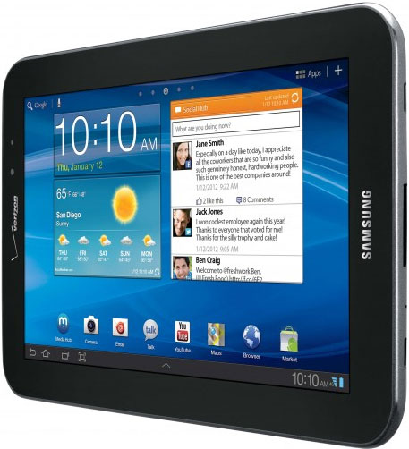 Verizon calls dibs on samsungs galaxy tab 77 goes on sale march 1 for starters the galaxy tab 77 is the first version of samsungs super amoled plus tablet to hit the us it has a 77 inch display with a 1280x800 voltagebd Gallery