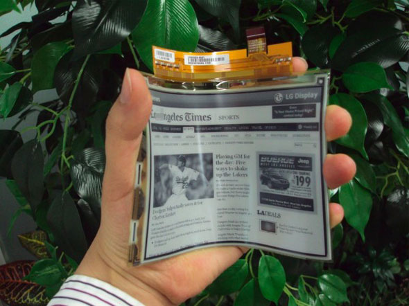 Worlds First Flexible Plastic e-Paper Displays for e-Readers by LG