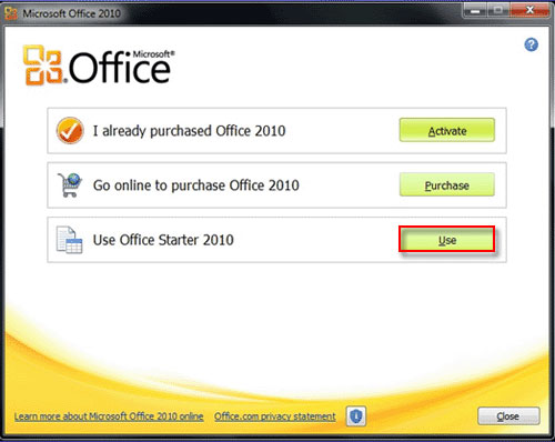 microsoft office 2010 for windows 8