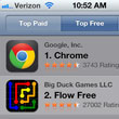 Chrome Browser Catapults to No. 1 Among Free iPad/iPhone Apps