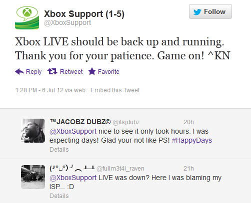XBox Support Twitter Stream