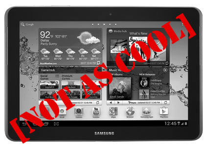 Samsung Galaxy Tab not as cool as Apple iPad