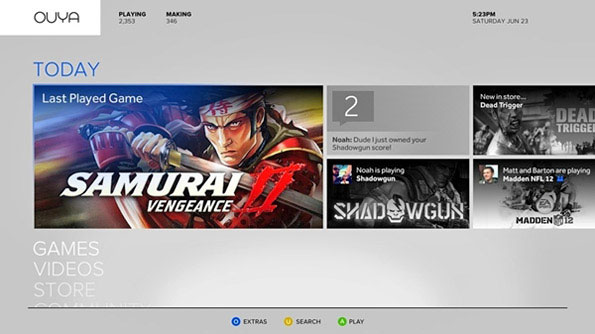 Ouya Game Screen
