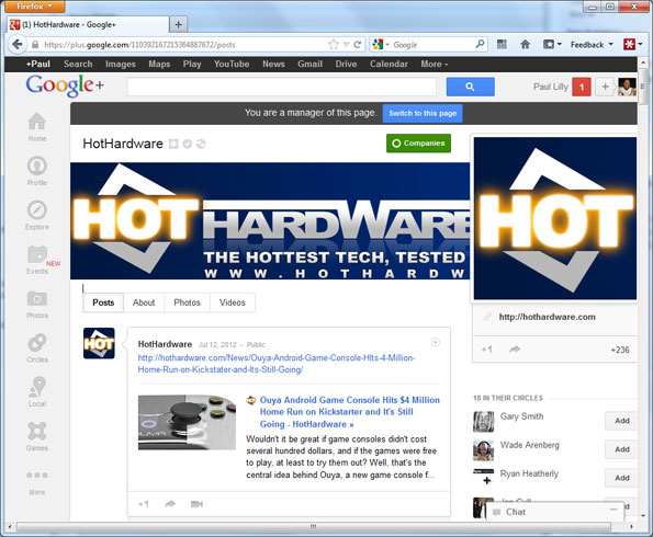 HotHardware on Google+