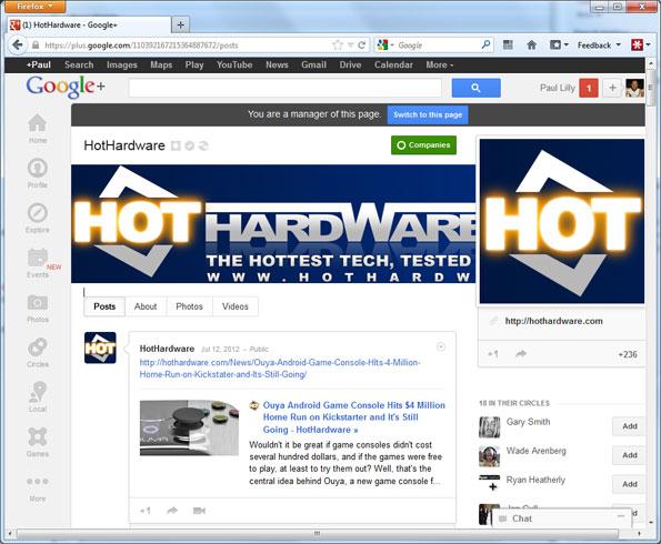 HotHardware on Google+