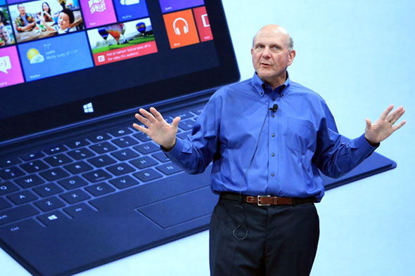Microsoft's Steve Ballmer and Surface Tablet