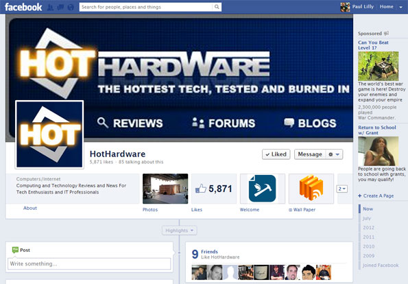 Facebook HotHardware Page