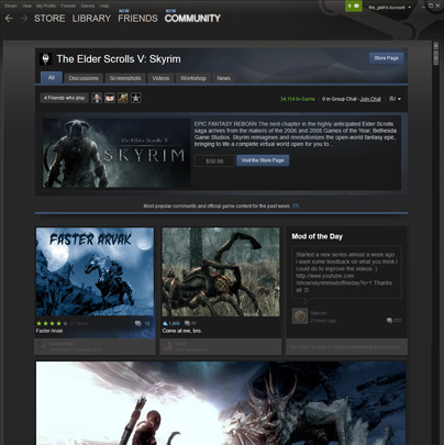 Steam Community Game Hubs