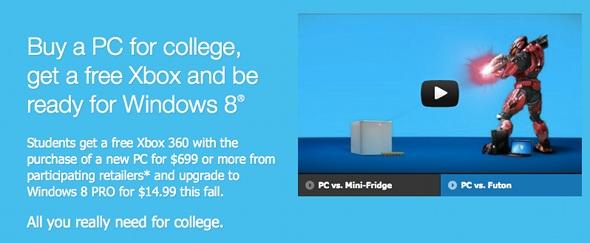 Microsoft free Xbox 360