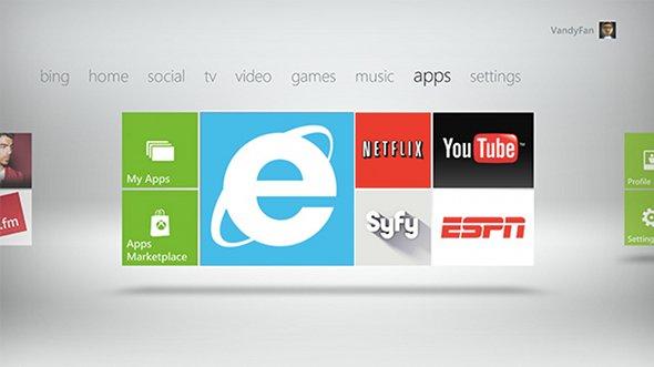 Xbox LIVE Internet Explorer
