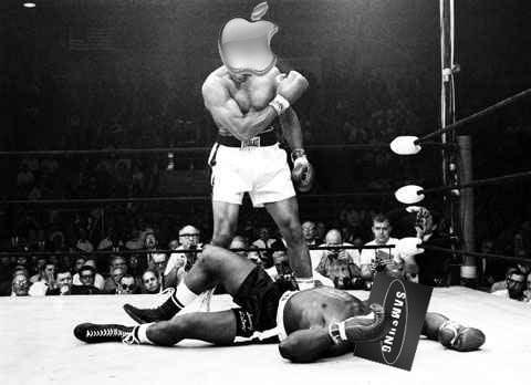 Apple Samsung Boxing