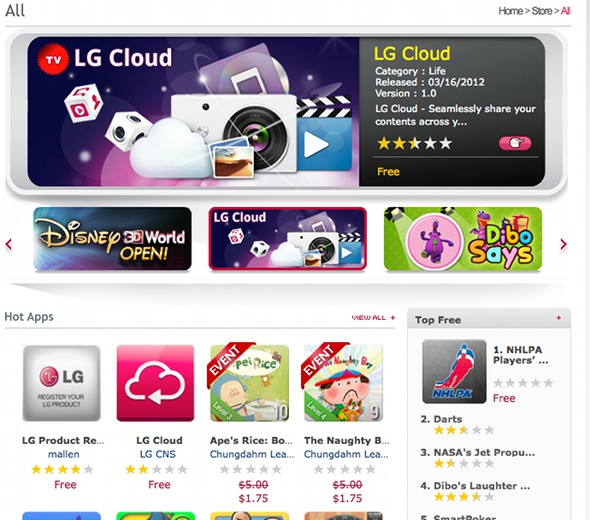LG Apps TV