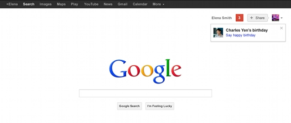 Google birthdays