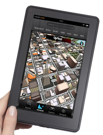 Amazon Kindle Fire maps