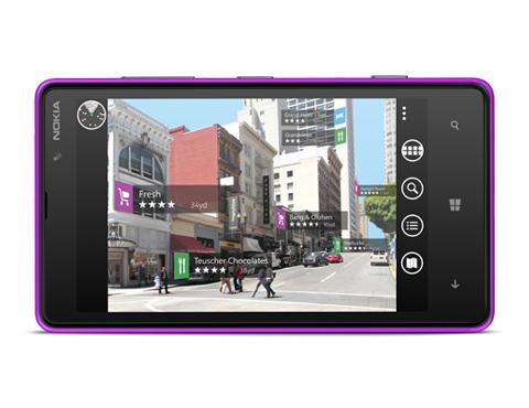 Nokia City Lens view