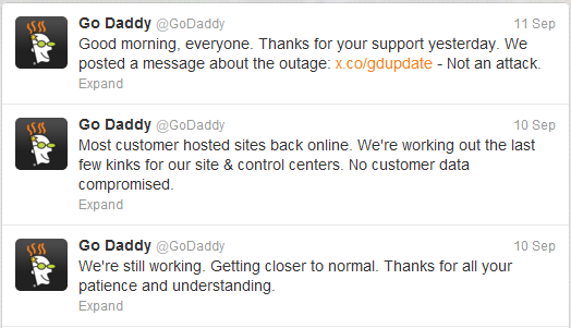 GoDaddy Offering Customers One Month Compensation for Outage