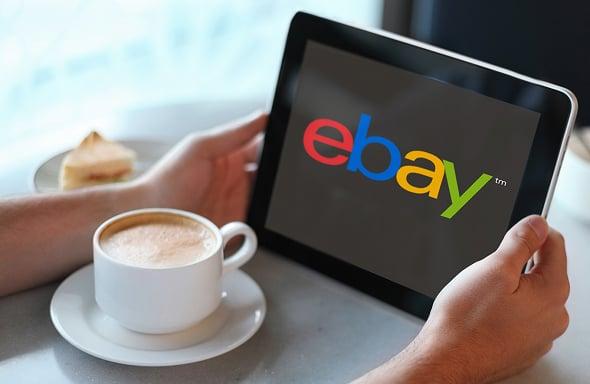 eBay on tablet