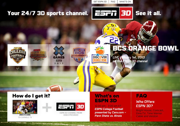 ESPN Is Giving 3D TV A Boost