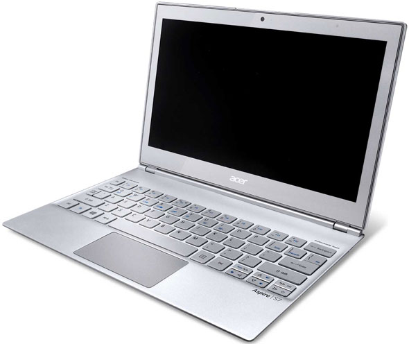 Front View Of The Acer Aspire S7-191