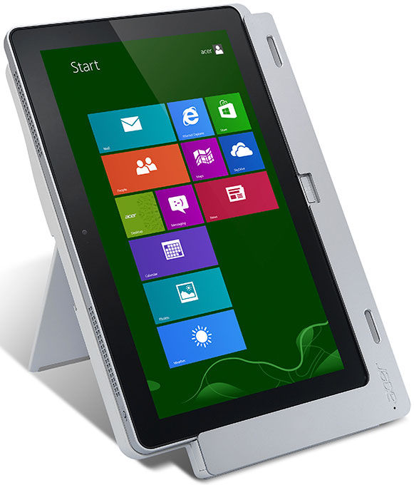 The Acer Iconia W700 Tablet's Cradle Holds It In Multiple Positions