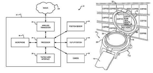 Google Smart Watch Patent Image