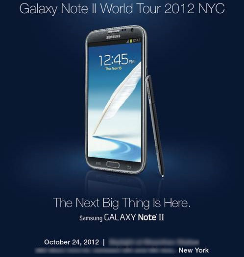 Galaxy Note II Invite