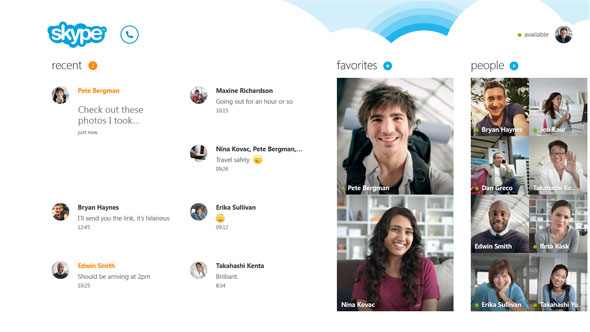 Skype Integration For Windows 8
