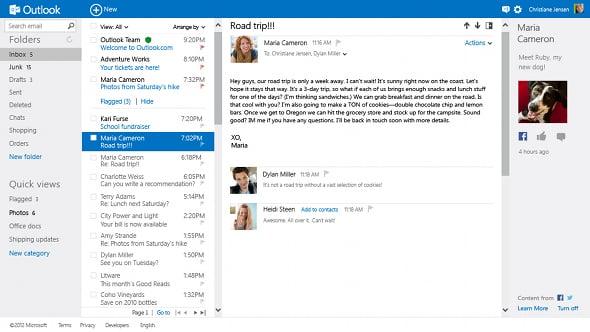 Outlook.com inbox
