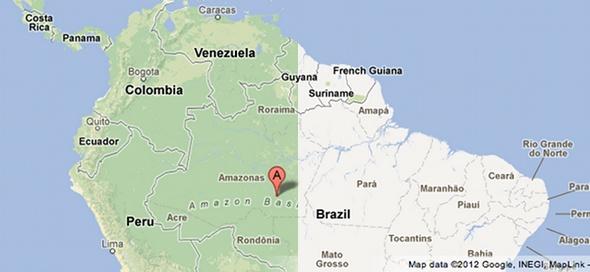 Google Maps Amazon Basin