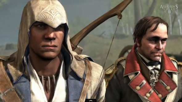 Connor Surveys The Battlefied In Assassin's Creed III