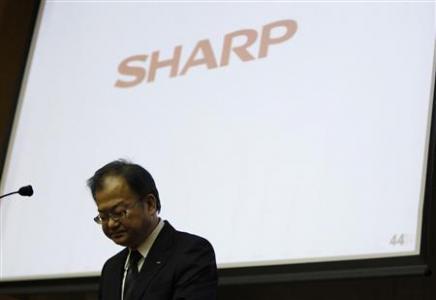 Sharp president Takashi Okuda