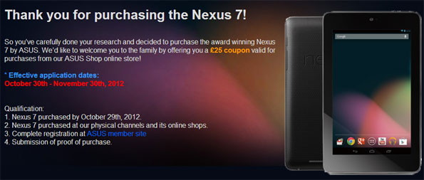 Asus Nexus 7 Offer