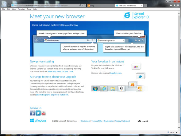 Internet Explorer 10 On Windows 7