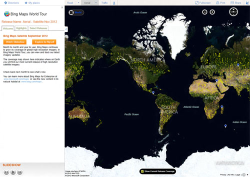 Microsoft Updates Bing Maps With TB Of Global Satellite Imagery - Microsoft satellite maps