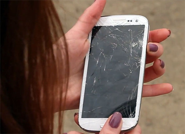Cracked Galaxy S III